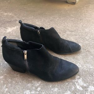 Franco Sarto black suede Booties